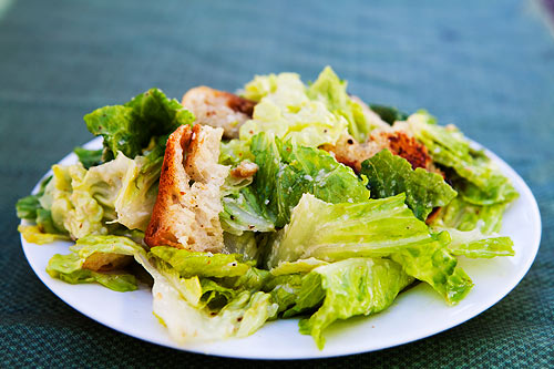 Picture of a Caesar salad